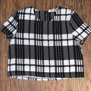 LF Houndstooth Crop Top